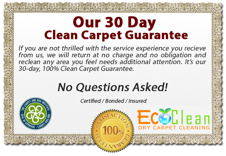 EcoClean Dry Carpet Cleaning Guarantee - Long Beach, Ca