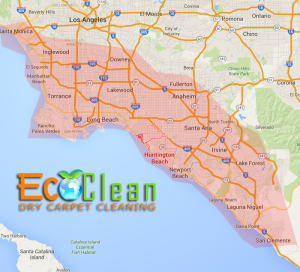 EcoClean Dry Carpet Cleaning Huntington Beach, CA - Service Area